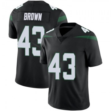 Men's New York Jets Alex Brown Stealth Black Limited Vapor Jersey By Nike
