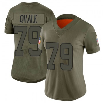 Women's New York Jets Brent Qvale Camo Limited 2019 Salute to Service Jersey By Nike