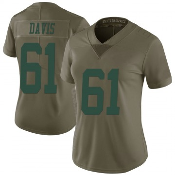 Women's New York Jets Domenique Davis Green Limited 2017 Salute to Service Jersey By Nike