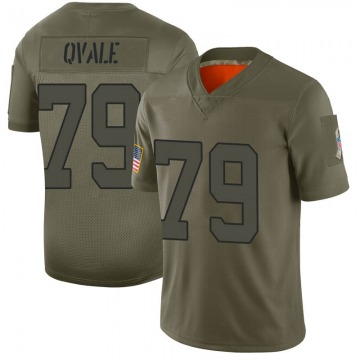 Youth New York Jets Brent Qvale Camo Limited 2019 Salute to Service Jersey By Nike