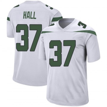 Youth New York Jets Bryce Hall Spotlight White Game Jersey By Nike