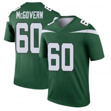 Youth New York Jets Connor McGovern Gotham Green Legend Player Jersey By Nike