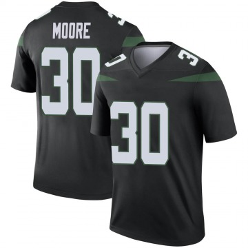 Youth New York Jets Jalin Moore Stealth Black Legend Color Rush Jersey By Nike
