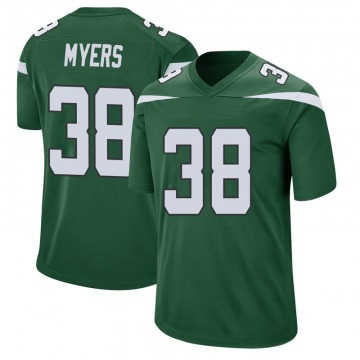 Youth New York Jets Marko Myers Gotham Green Game Jersey By Nike