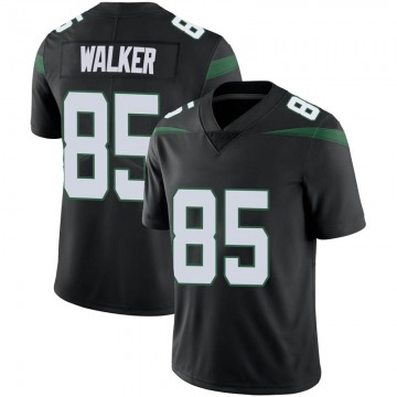 Youth New York Jets Wesley Walker Stealth Black Limited Vapor Jersey By Nike